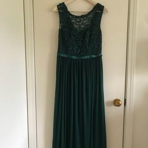 Forest green bridesmaid/prom dress